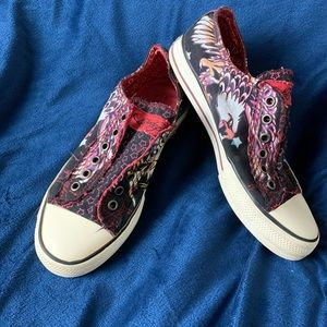 Ed Hardy Eagle Slip on sneakers Size 6